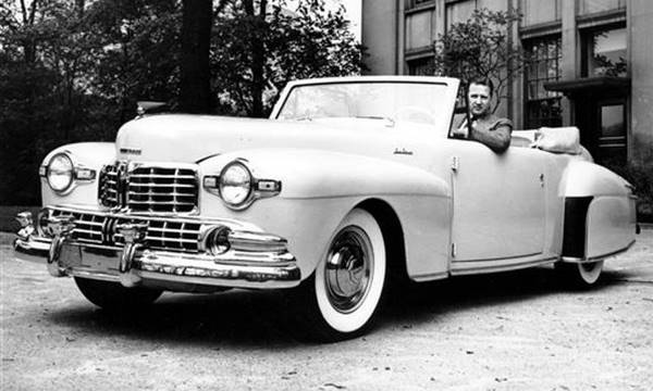 Henry Ford Ii Drives The Lincoln Continental