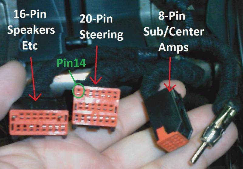 Factory Amp Wire Location