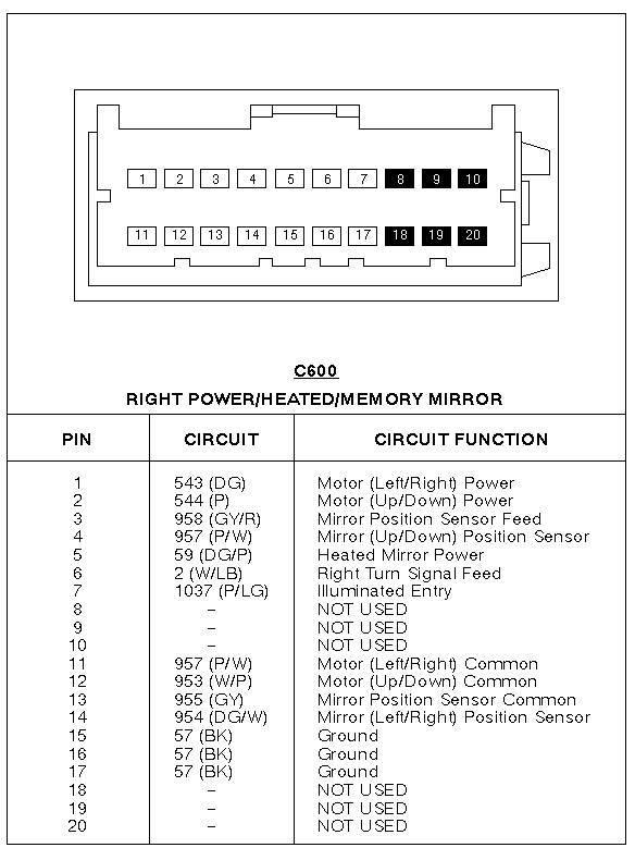 9798 door mirror wiring diagram – Lincoln Mirror Wiring Diagram