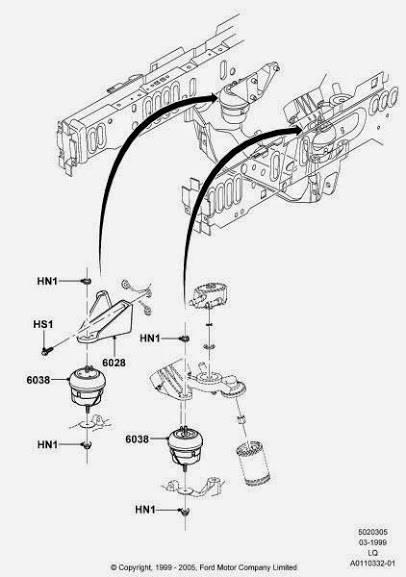 v6 vs v8 motor mount bracket