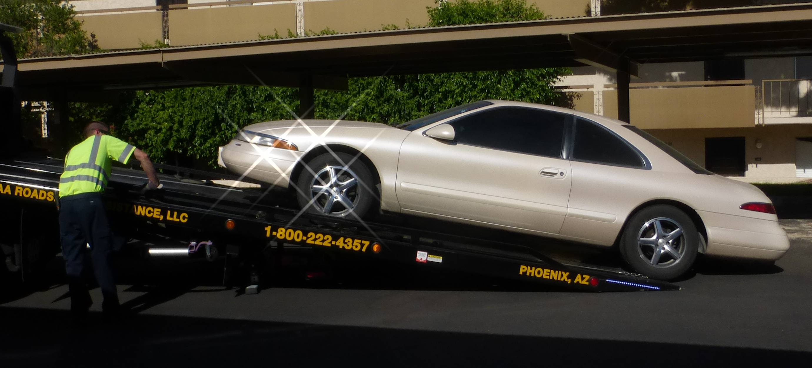 Pearl being loaded on tow truck.jpg